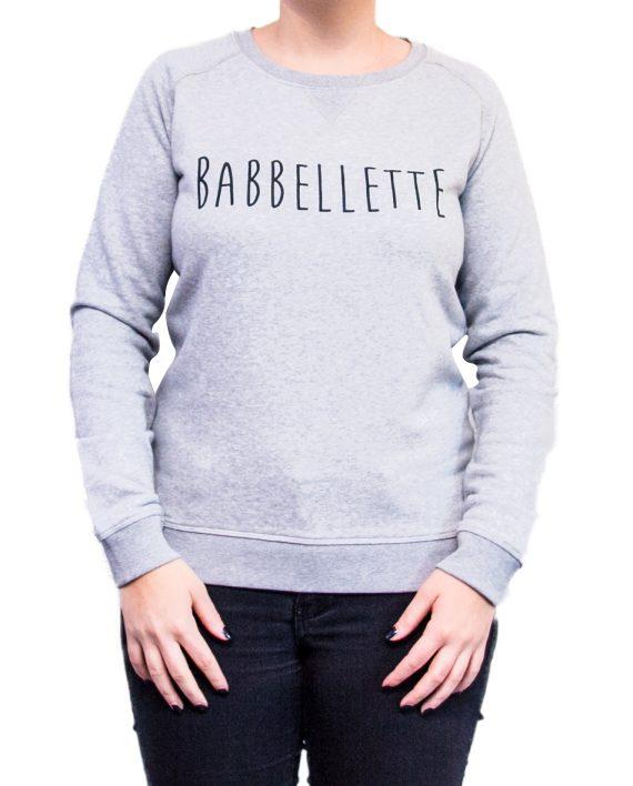 sweater babbellette vrouw grijs