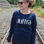 juffra sweater kopen blauw